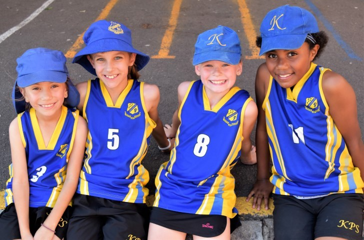 Girls in basketball uniform at KPS